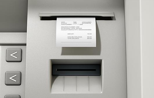hartie bancomat